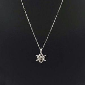 Bradford Exchange Snowflake Silver Necklace